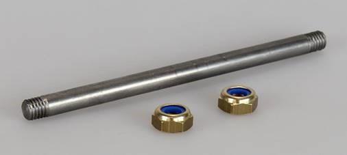Suevia Achse 8x130 mm mit 2 Muttern Nr.102.0257