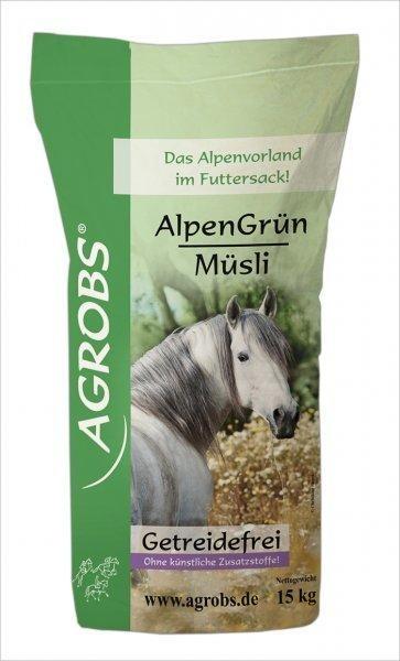 Agrobs AlpenGrün Müsli Pferdefutter 15 kg