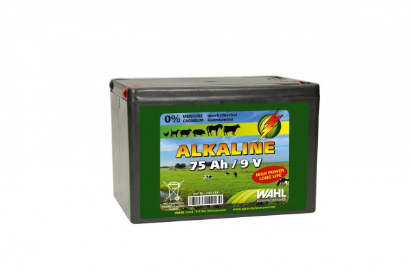 WAHL-Hausmarke Weidezaunbatterie 9 V - 75 Ah