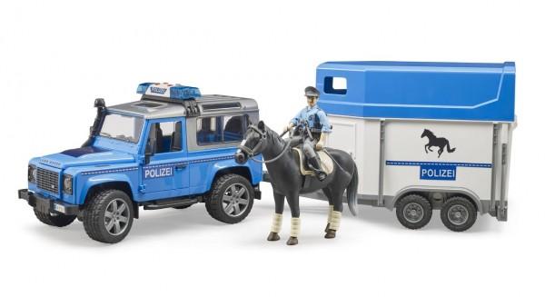 Bruder Polizeifahrzeug Land Rover Defender