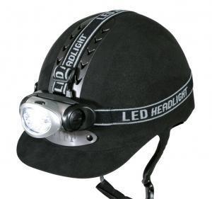 Helmlampe mit elastischem Stirnband