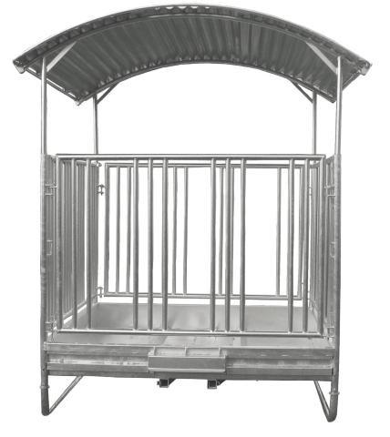 Kerbl Viereckraufe mit Sicherheits-Fressgitter